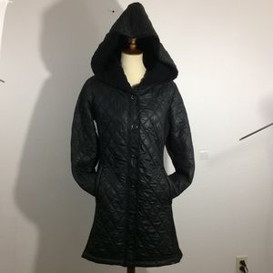 Prana Quilted Hooded Sherpa Lined Jacket